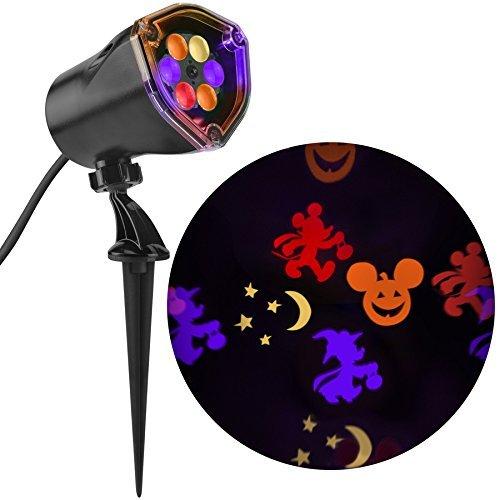 Disney Mickey Multi-Function Red/Orange/Purple/Green Led Multi-Design Halloween Outdoor Stake Light Projector
