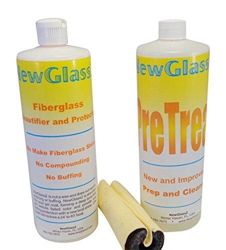 new-glass-2-fiberglass-cleaner-wipe-on-shine-restorer-lasts-over-12-months-2-easy-steps-complete-kit