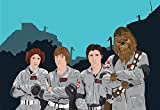 Star Wars as Ghostbusters Mashup Original Illustration Poster Print on Paper Canvas and Cotton Canvas Pop Art Chewbacca Han Solo