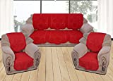 Yellow Weaves 6 Piece Red Sofa & Chair Cover Set