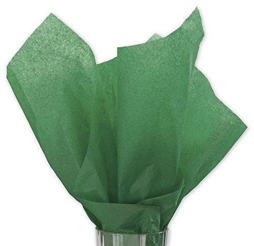 Holiday Green Wrap Tissue Paper 15 Inch X 20 Inch - 100 Sheets
