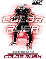 2018 Score Color Rush #10 Adrian Peterson Arizona Cardinals Football Card