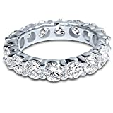 5-Carat-ctw-14K-White-Gold-Round-Diamond-Ladies-Eternity-Wedding-Anniversary-Stackable-Ring-Band-Value-Collect