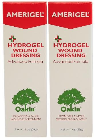 Amerigel Wound Dressing - Amerigel with Oakin Wound Dressing - 1 Ounce Tube - 2 Pack