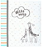 Carter's Hello World Animal Themed 3-Ring Baby Memory Book, 10.125' W x 11.5' H