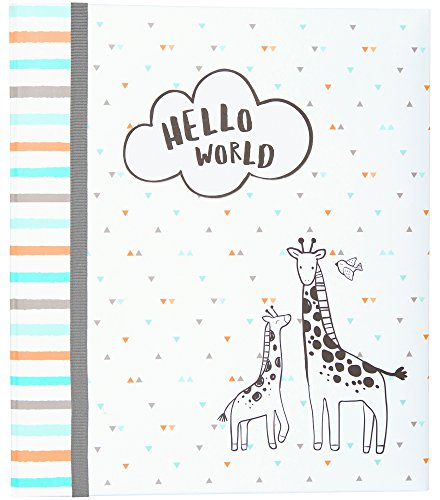 Carter's Hello World Animal Themed 3-Ring Baby Memory Book, 10.125
