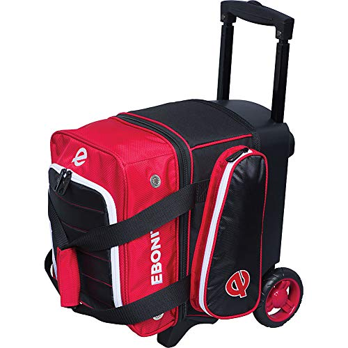 Ebonite Bowling Products Eclipse Single Roller Bowling Bag-Red, Red (Bowling Ball Bag Single Roller)