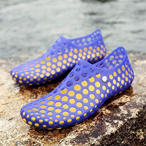 Scarpe Blu Spiaggia comode Uomo da Qianliuk da Sandali wOIq6Bv0