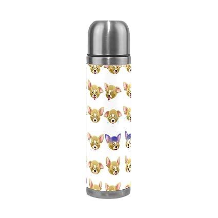 Amazon.com: jstel perro Chihuahua Emoji Botella de agua ...