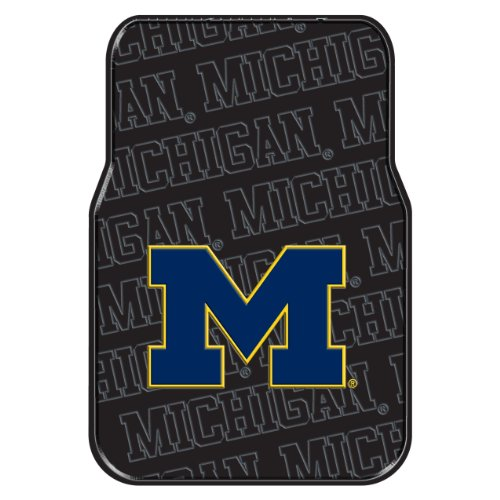 The Northwest Company Officially Licensed NCAA Michigan Wolverines Auto Front Floor Mat, (Michigan Floor Mat)