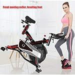 QQLK-Sports-Cyclette-Aerobica-da-Spinning-Allenamento-Indoor-Fitness-Cardio-Spin-Bike-Display-A-LED-Regolazione-della-Resistenza-Sistema-Magnetico-Interno-Portata-150-kg