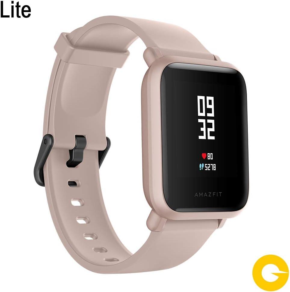 Amazfit Bip Lite SmartWatch Monitor de Actividad Fitness Resistente al Agua 30 Metros Pulsómetro Modos Deportivos iOS & Android (Versión Internacional - 45 días de Batería) Rosa