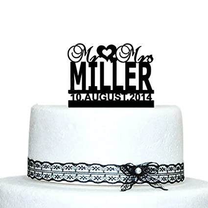Amazon Buythrow Personalized Wedding Cake Topper With Infinity