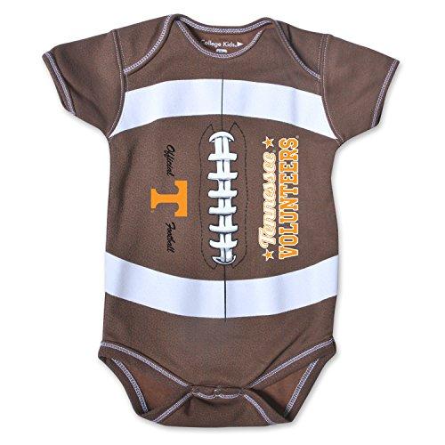 NCAA Tennessee Volunteers Kids MVP Football Bodysuit, 0-3 Months, Brown ()