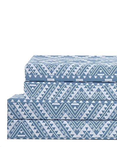 Yuba Blue 100% Cotton Sheet Set, - Blue Yuba