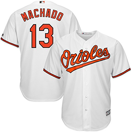 Manny Machado Baltimore Orioles MLB Majestic Youth White Home Cool Base Replica Jersey (Youth Large 14-16)