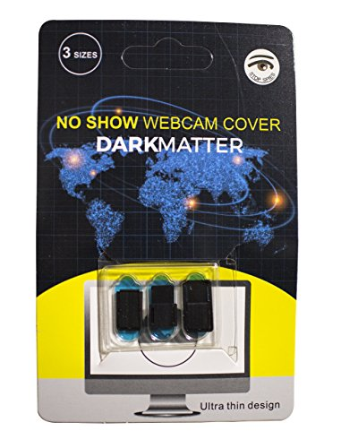 Dark Matter No Show Webcam Cover Slide Laptop Camera Cover, Set of 3 Laptop Cam Cover, Protect Your Privacy with Phone Camera Cover, Stop (Dark Slide)