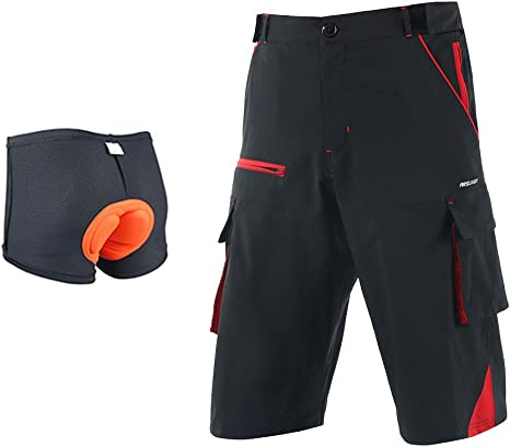 ARSUXEO Outdoor Sports Loose Fit Cycling Shorts MTB Bike Shorts 1708