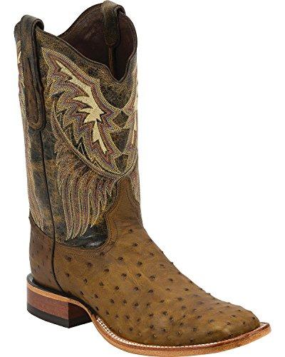 Tony Lama Men's 6077-FQ Ostrich Western Boot,Oak,9 D US (Fq Ostrich)