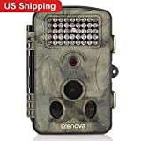 Crenova Game and Trail Hunting Camera 12MP 1080P HD With Time Lapse 65ft 120° Wide Angle Infrared Night Vision 42pcs IR LEDs 2.4