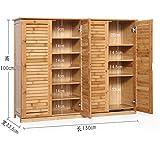 Wooden shoe cabinet bamboo shoe rack solid wood,simple,shoebox storage room shoe rack [multilayer],multifunction,porch door cabinet-O