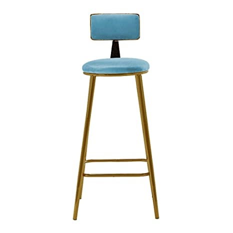 Incredible Amazon Com Flannel Bar Stool With Backrest Gold Metal High Gamerscity Chair Design For Home Gamerscityorg