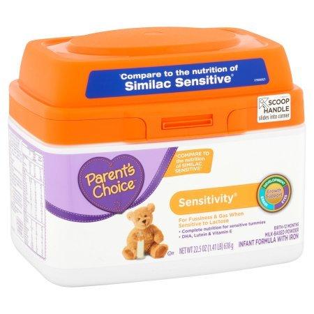 Parent's Choice Sensitivity Powder Infant Formula with Iron, 22.5oz (3 Packs) by Parent's Choice