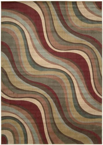 Nourison Somerset Multicolor Rectangle Area Rug, 7-Feet 9-Inches by 10-Feet 10-Inches 7 9 x 10 10