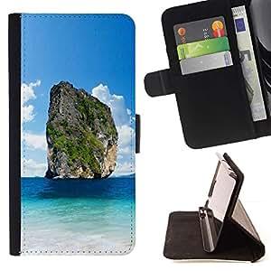 For Apple iPhone 5C Case , Vistas Kistler- la tarjeta de Crédito Slots PU Funda de cuero Monedero caso cubierta de piel