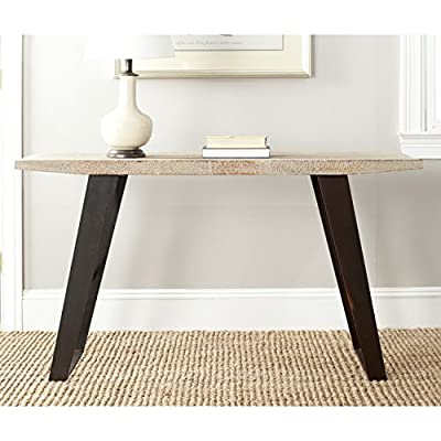 Safavieh American Homes Collection Waldo Natural Console Table - The natural finish and black brushed accents of this console table will create a perfect accent to your home This table will add a fresh accent to your home Crafted of solid fir wood - living-room-furniture, living-room, console-tables - 517QMYYrhfL. SS400  -