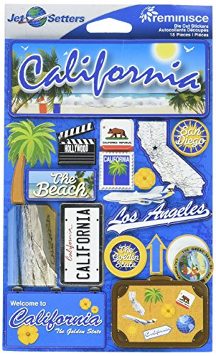 Reminisce Jet Setters Dimensional Stickers-California ()