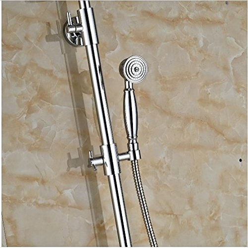 Gowe Newly Coming 8-in Chorme Polish Shower Set Bathroom Wall Mounted Single Handle Mixer Faucet 3
