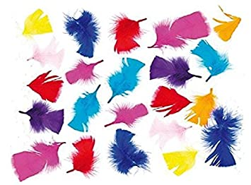 Deko Federn Zum Basteln Für Kinder Ideal Als Dekoration Zum Karneval Für Masken Und Karten 130 Stück