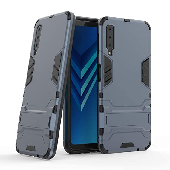 the latest 7969d 0617c Galaxy A7 2018 Armor Case DWaybox 2 in 1 Heavy Duty Armor Hard Back Case  Cover with Kickstand for Samsung Galaxy A7 2018 SM-A750 6.0 Inch (Black  Plus ...