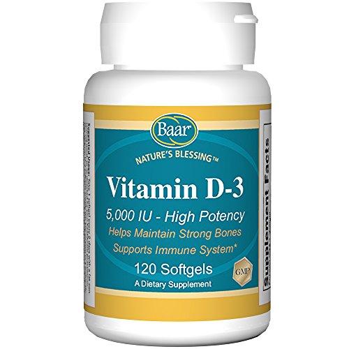Vitamin D-3 Softgels, 5,000 IU, 120 Softgels