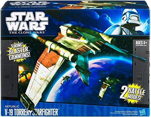 Star Wars Clone Wars Starfighter V-19 Vehicle ()