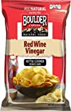 Boulder Canyon Kettle Cooked Potato Chips, Red Wine Vinegar, 5 Ounce (Pack of 12)