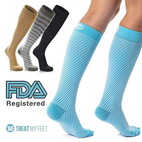 Compression Socks for Men & Women - Knee-high stockings relieve calf, leg & foot pain Graduated to boost circulation & reduce edema , Compression socks nurse, Compression sock for running women