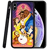 DISNEY COLLECTION Phone Case Compatible iPhone Xs Max Case Beauty and The Beast Reinforced Drop Protection Hard PC Back Flexible TPU Bumper Protective Case for iPhone Xs Max 6.5 Inch