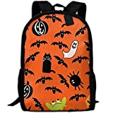 Best KAKA Work Backpacks - Haloween Ghost Bat Pumpkin Frog Canvas Laptop Backpack Review