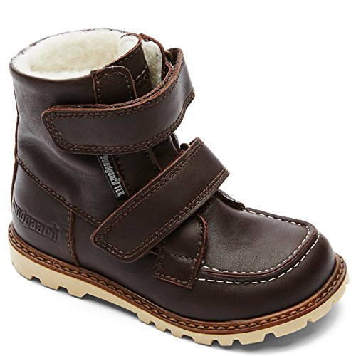 Bundgaard Kids Boot Terry w/Velcro Dark Brown Savage Brown