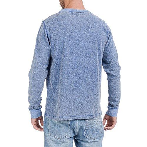 Urban Beach Herren Dean Long Sleeve Top, Blau, S