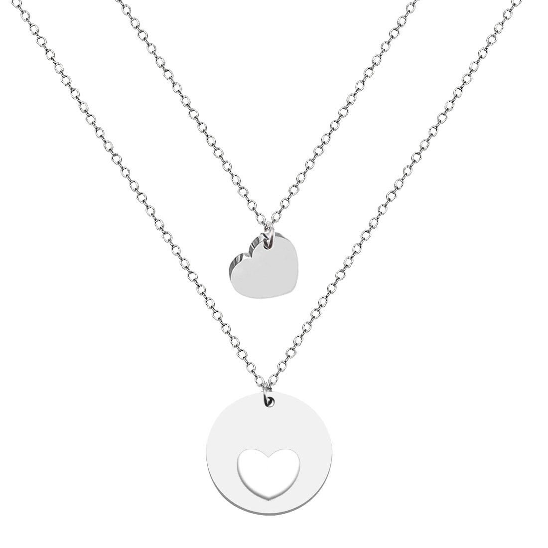 JJTZX Mother Daughter Necklace&Bracelet Set-The Love Between Mother and Daughter is Forever Mommy and Me Gift (Necklace set of 2)