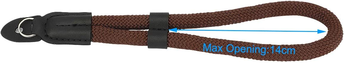 Haoge Camera Hand Wrist Strap with 2 Connections for Canon Nikon Sony Fujifilm Panasonic Ricoh DSLR SLR Mirrorless Point /& Shoot Cameras