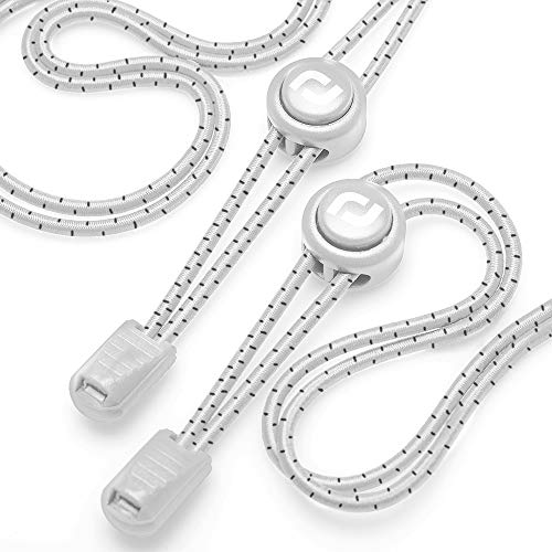 Tie Shoelaces - Quick to Install No tie Shoelaces for Adults (Number 004 - Dotted White) ()