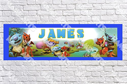 Personalized / Customized Wallykazam Name Poster with Border Mat- Home Wall Decor Birthday Party Door Banner -