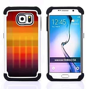 GIFT CHOICE / Defensor Cubierta de protección completa Flexible TPU Silicona + Duro PC Estuche protector Cáscara Funda Caso / Combo Case for Samsung Galaxy S6 SM-G920 // Gradient colors //