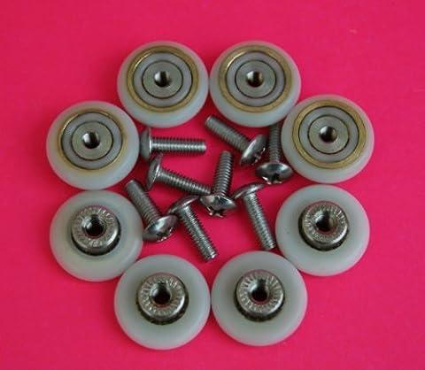 8 x Shower Door ROLLERS /Runners/Wheels 19mm Wheel Diameter L017 by Shower Part - 19 Mm Part