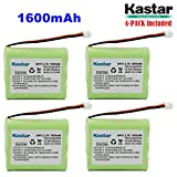 Kastar 4-PACK AAX3 3.6V 1600mAh EH Ni-MH Rechargeable Battery for Vtech, Motorola, Radio Shack, Sanyo Series Cordless Phone (Check your Cordless Phone Model down)
