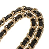 123Arts Synthetic Leather Metal Chain Genuine